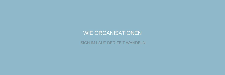 wie Organisationen sich wandeln